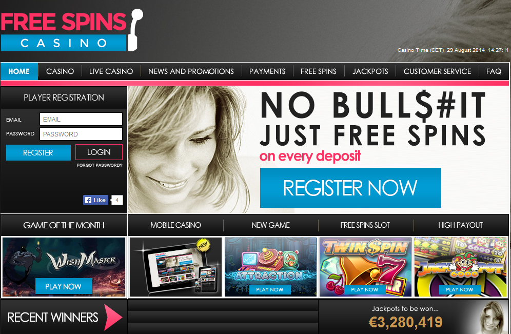 Casino free spins with no deposit